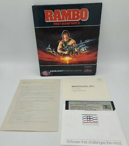 Rambo First Blood Part II IBM PC Angelsoft Mindscape Game Complete