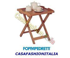 FOPPAPEDRETTI DESSERT TAVOLINO VASSOIO 47851 CHIUDIBILE NOCE CASAFASHIONITALIA