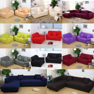 Stretch Fabric Sofa Cover Slipcover 1 2 3 4 Seat Elastic Furniture Protector