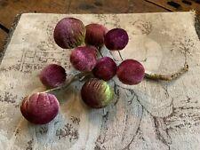 Antique Velvet Grape Cluster Fruit Vegetable Pin Cushion