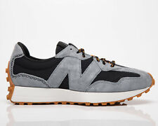 New balance 327 para hombre negro pizarra bajo Casuales Atléticas Zapatos Zapatillas de estilo de vida