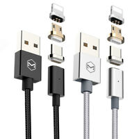 Mcdodo 3 in 1 LED Magnetic Nylon Cable iPhone/Micro USB/Type C Sync charge