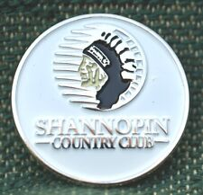"""RARE_Limited Edition_ SHANNOPIN COUNTRY CLUB 1"""" Ni-Silver Plated Ball Marker"""
