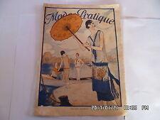 MODE PRATIQUE N°21 23/05/1925 MODE TRICOT COUTURE FABRIQUER DES PANTOUFLES   K15