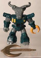 "Battle Beasts Roamin Buffalo #10 Series 1 Complete Damaged Water Rub 2"" Figure"
