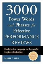 3000 Power Words and Phrases for Effective Performance Reviews : Ready-to-Use...