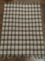 "Vintage Pendleton Checkered Plaid Wool Blanket Sz 68""x52"""