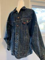 Vintage 60s Lee Rider Denim Indigo Jacket, Size: small