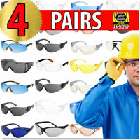 Safety Protection Glasses 4 PACK Multi Color Options ANZI Z87 UV400 Glasses