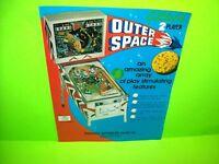 Gottlieb OUTER SPACE Original 1972 Arcade Game Pinball Machine Flyer Space Age