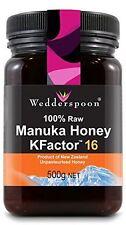 Wedderspoon RAW Manuka Honey Active 16+ 500g (Pack of 6)