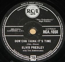 ELVIS PRESLEY WEAR MY RING b/w DON'CHA THINK RCA 78 RPM E EXCELLENT PLUS GRADE
