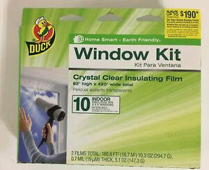 10-Pack Plastic Shrink Film Indoor Window Kit 62x420 Heat Insulation Draft Wrap