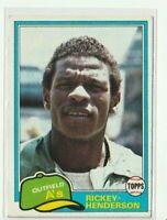 1981 Topps #261 Rickey Henderson Oakland Athletics HOF 2nd Year