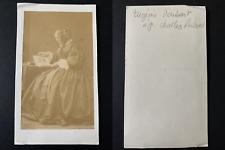 Eugénie Daubant épouse du baron Charles Richard Vintage cdv albumen print.Le b