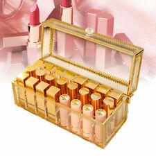 New 24 Slot Mental Brush Lipstick Organizer Display Stand Cosmetic Makeup Holder