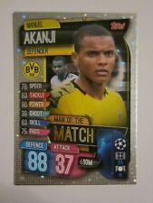 Match Attax CL 2019/20 Man of the Match card Manuel Akanji of Borussia Dortmund