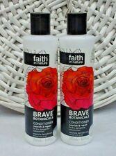 2x Faith in Nature Brave Botanicals Conditioner Rose & Neroli 2x 250ml Free P&P