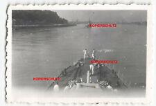 Foto Kriegsmarine Schiff Zerstörer Z 24 Frankreich Hafen Brest Bug Deck France