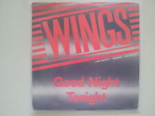 Wings (Beatles) - Good night Goodnight tonight 7'' Single RONNEX COVER BELGIUM