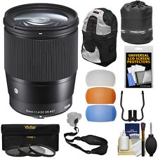 Sigma 16mm f/1.4 F1.4 Contemporary DC DN Lens Kit for Sony Alpha E-Mount Cameras