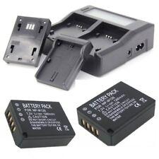 2Pcs NP-W126 1260mAh Battery + Dual Slot Charger + Wall Cable For Fuji Camera