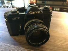 CANON EF SLR 35MM CAMERA, BLACK, EXCELLENT CONDITION, 50MM LENSE. GREAT PRICE.