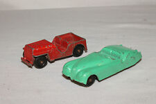Tootsietoy, 1950's Jaguar XK 120, Willys Jeep, Originals