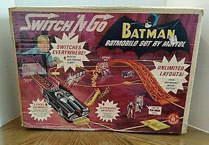 Batman Switch 'N Go Batmobile Set By Mattel/1966/Vintage/Box W Accessories