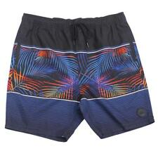 Oakley BELIZE Shorts Size 34 L Jet Black Print Mens Casual Boardshorts Walkshort