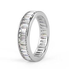 Deal -  2.25 Ct Baguette Diamond Channel Set Full Eternity Ring, Platinum