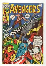 The Avengers #80 VF 8.0 Buscema RED WOLF marvel