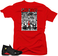 Shirt to Match Jordan 14 Last Shot Sneakers.1 Last Shot  Red Tee