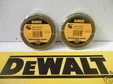 2 X PACKS OF DEWALT DT20650 DCM561 TRIMMER STRIMMER LINE 15.2M X 2MM