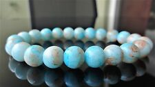 "Light Blue Gemstone bead bracelet for Men on Stretch 10mm - 8"" inch Multicolor"