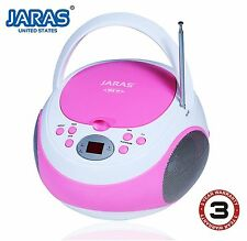 small portable cd player for kids pink little girl outdoor Boombox Stereo Radio