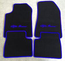 Autoteppich Fußmatten für Alfa Romeo Giulietta schwarz blau 4teilig neuware