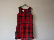 Polyester Checked Mini Dresses Size Petite for Women