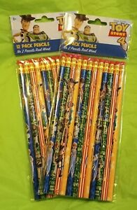 Disney Picar Toy Story 4 12 Pack No 2 Pencils Lot Of 2 NEW