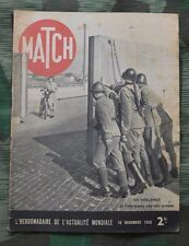 Revue Match du 16 novembre 1939 hollande ligne maginot soeurs mitford wilhelmine