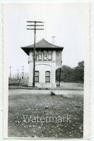 B/W snapshot photo railroad train depot stop FC #2
