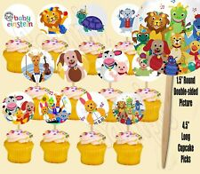 Baby Einstein Double-Sided Cupcake Picks Cake Toppers -12PCS