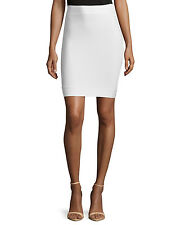 BCBG Max Azria Cathy Gardenia Off-White Power Pencil Bandage Mini Skirt size M