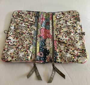 Thirty One Jewelry Roll Pouch Case Holder Flowers Travel Free Spirit Floral