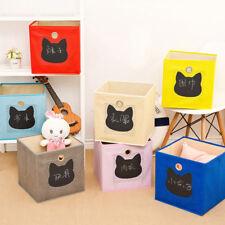 Folding Kids Toys Storage Box Toys Organizer Bag Boxes Supplies  S3