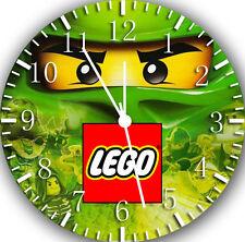 "Lego Ninja Ninjago wall Clock 10"" will be nice Gift and Room wall Decor W460"
