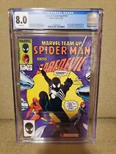 CGC 8.0 Marvel Team-Up #141, Tied with ASM #252 for 1st black costume Spider-Man