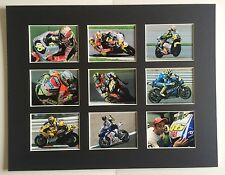 """VALENTINO ROSSI 9 WINS 14"""" BY 11"""" MOUNTED PICTURE READY TO FRAME"""