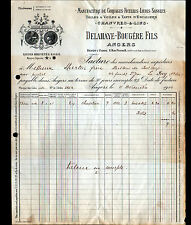 """ANGERS (49) USINE de CORDAGE FICELLES / CHANVRE LIN """"DELAHAYE & BOUGERE"""" en 1914"""