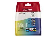 Canon CLI-526 3 Inkjet Cartridge Cyan Magenta Yellow Multipack No Box IP4850 etc